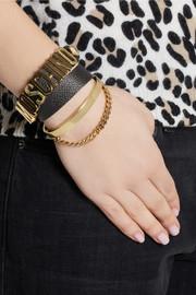 MoschinoTextured-leather wrap bracelet