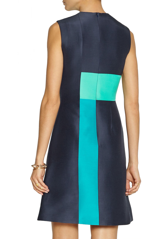 Roksanda Bronti paneled cotton-blend dupion dress