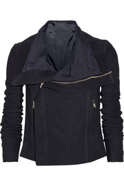 Rick Owens Blister brushed-leather biker jacket