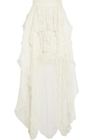 Sophia Kokosalaki - Pandasia Ruffled Silk-chiffon Skirt - Ivory