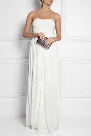 Charis pleated jersey-crepe gown