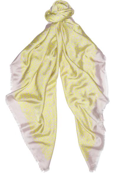 3b3c5c2b7683 Valentino. Leopard-print cotton and silk-blend scarf