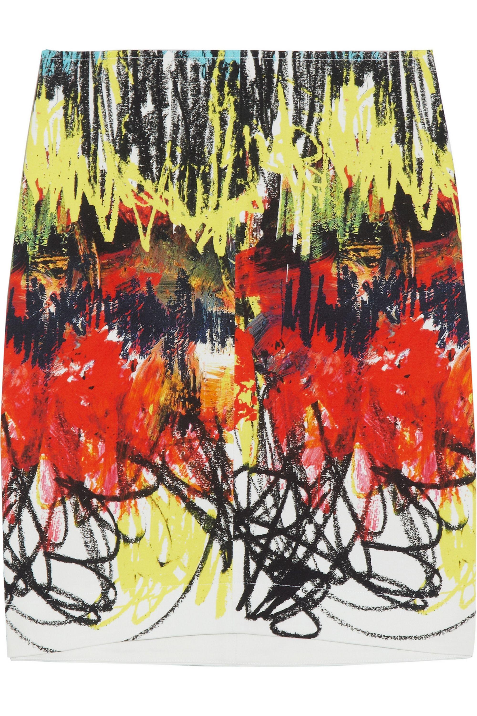 Cédric Charlier Printed cotton-blend mini skirt