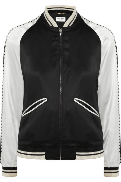 fec12db38 Teddy embellished satin bomber jacket