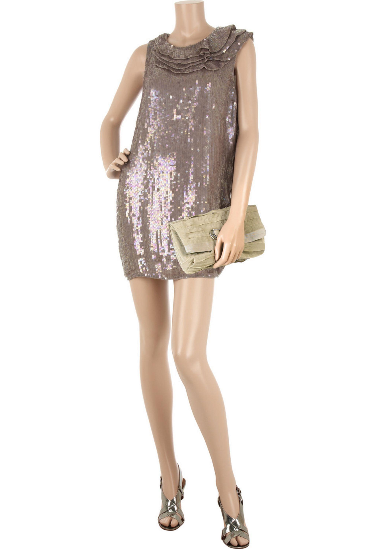 3.1 Phillip Lim Sequin-covered mini dress