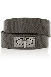 Givenchy Shark Lock bracelet in snake and ruthenium-tone brass