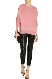 J Brand L1340 Julia cropped mid-rise leather pants