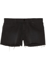 1158 low-rise cut-off stretch-denim shorts