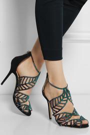 Jimmy ChooKallai crystal-embellished suede sandals
