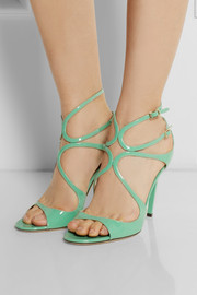 Jimmy ChooLang patent-leather sandals