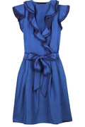 Marc by Marc Jacobs Habotai ruffle-front dress