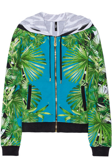 Sale alerts for Printed stretch-cotton hooded top Versus - Covvet