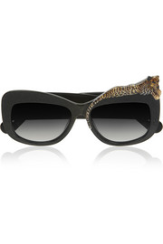 Rose et la Mer cat eye acetate sunglasses