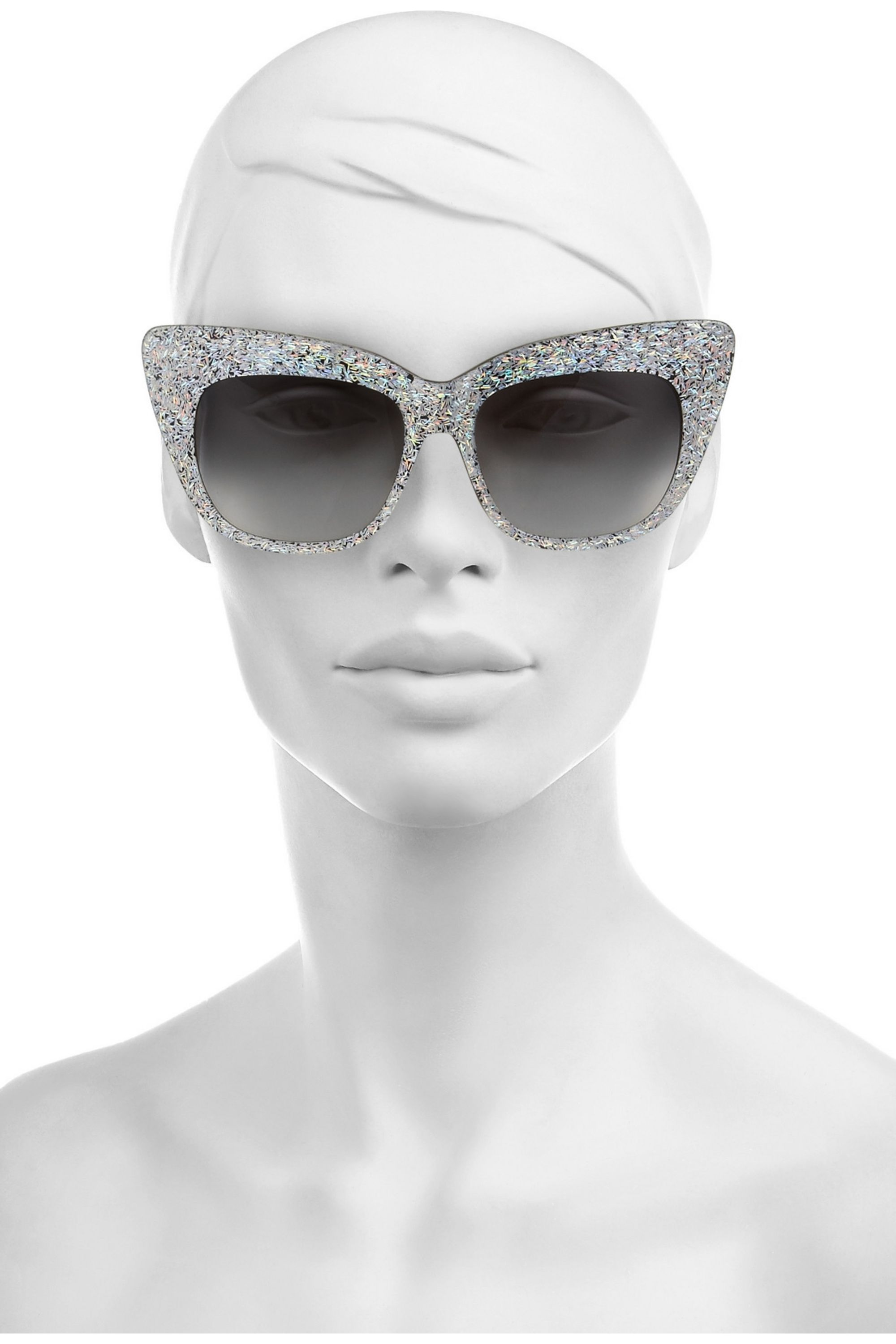 Anna-Karin Karlsson Alice Goes to Cannes cat eye glittered-acetate sunglasses