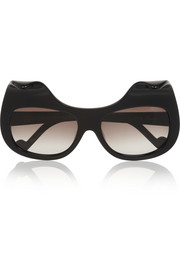 When Trouble Came To Town square-frame acetate sunglasses
