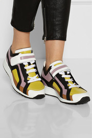 Pierre Hardy Paneled leather sneakers