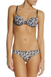 Stella McCartney Stella Smooth leopard-print stretch balconette bra