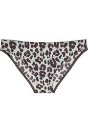 Stella McCartney Stella Smooth leopard-print stretch briefs