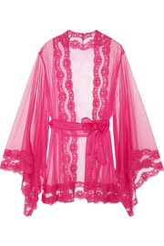 Agent Provocateur Lacy Kimono lace-trimmed tulle robe