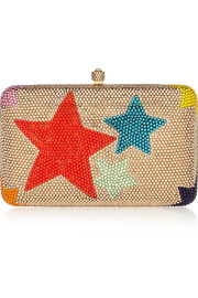 Wonderstar Swarovski crystal-embellished box clutch