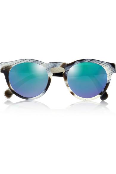 Round Frame Sunglasses  illesteva leonard round frame acetate mirrored sunglasses net