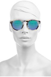 IllestevaLeonard mirrored round-frame acetate sunglasses