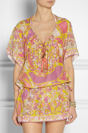 Emilio PucciPrinted cotton and silk-blend voile kaftan