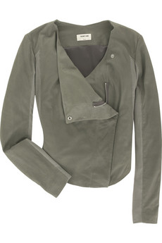 Helmut Lang Paper leather drape jacket