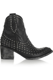 Mexicana Laguna studded distressed leather ankle boots