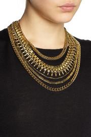 Erickson BeamonVelocity gold-plated Swarovski crystal necklace