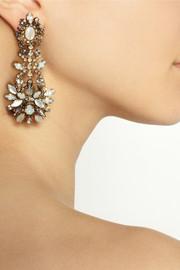 Erickson BeamonWhiter Shade of Pale gold-plated Swarovski crystal earrings