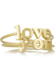 Love You set of two 18-karat gold rings