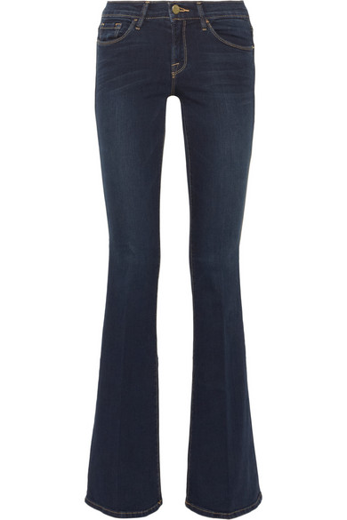 Le Skinny Flare Mid Rise Jeans by Frame