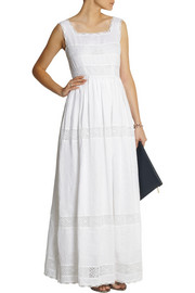 Collette by Collette DinniganTaormina linen and lace maxi dress