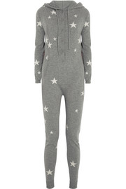 Chinti and Parker Star-intarsia cashmere hooded jumpsuit
