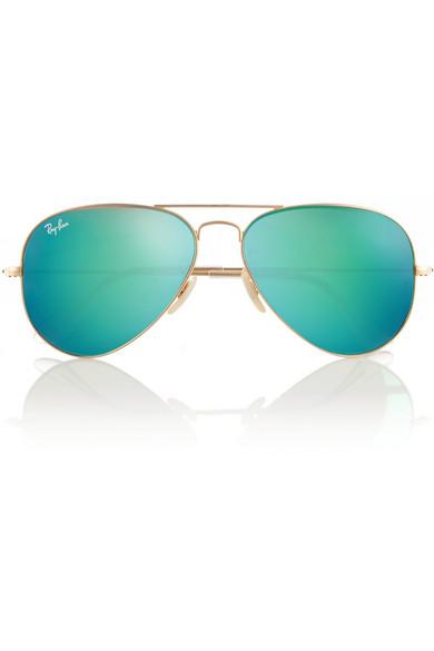 Aviator Ray Ban Mirrored Sunglasses  ray ban aviator metal mirrored sunglasses net a porter com