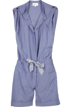 Vanessa Bruno Athé Sleeveless cotton-blend playsuit