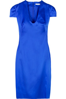 Alexander McQueen Silk satin shift dress