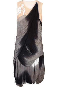 Alexander McQueen Ombré fringed dress