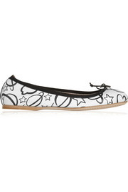 Miu Miu Printed leather ballet flats
