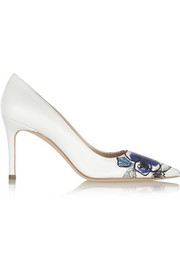 Miu Miu Printed leather pumps