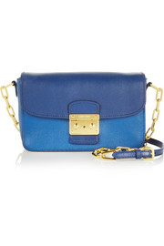 Miu Miu Bandoliera Madras two-tone leather shoulder bag