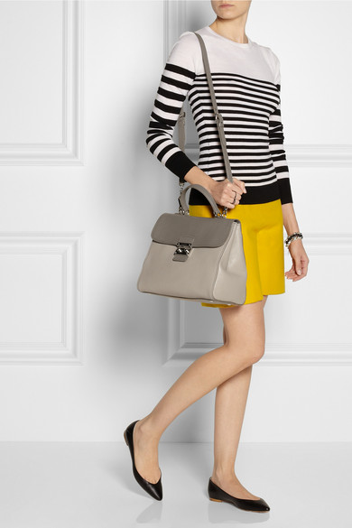 73bacc4798a5 Miu Miu. Pattina Madras two-tone textured-leather shoulder bag
