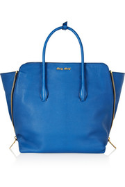 Miu Miu Shopping textured-leather tote