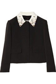 Miu Miu Embellished-collar cady jacket