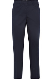 Miu Miu Cropped stretch-cotton twill pants