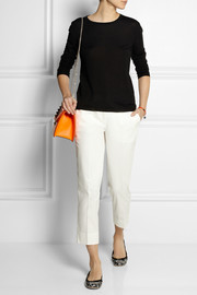 Miu Miu Cropped stretch-cotton twill straight-leg pants