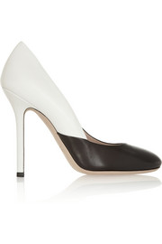 Miu Miu Two-tone leather pumps