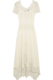 Sophia Kokosalaki Bolina embroidered cotton-tulle dress