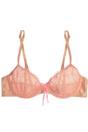 Elle Macpherson Intimates Fluo Summer embroidered stretch-tulle underwired bra